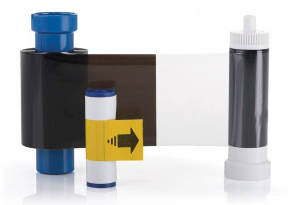 Farbband monochrom schwarz + Overlay für Magicard Pronto / Enduro / Rio Pro