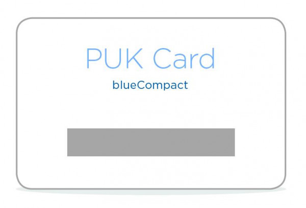 blueCompact Ersatz-PUK-Karte