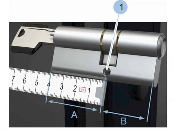 blueCompact Doppelzylinder beidseitig kontrolliert, externe Batterie