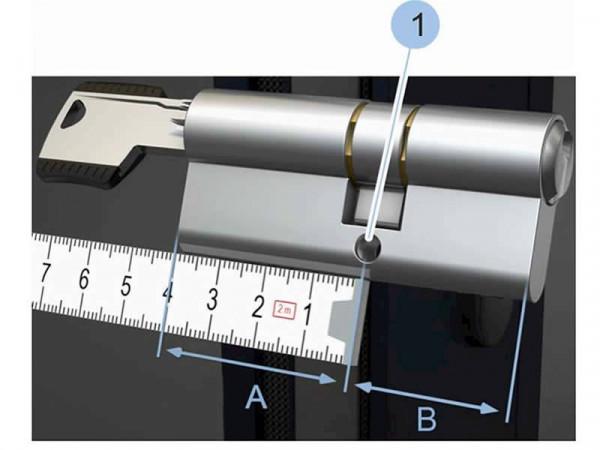 blueCompact Halbzylinder, externe Batterie